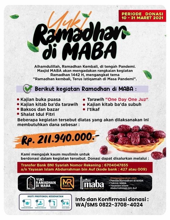 Ramadhan di MABA 2021